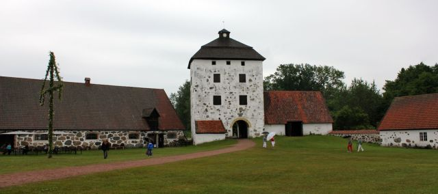 The courtyard of Hovdala Castle, where the festivities should have taken place