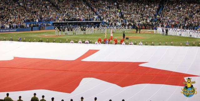...It's an enormous Canadian flag!