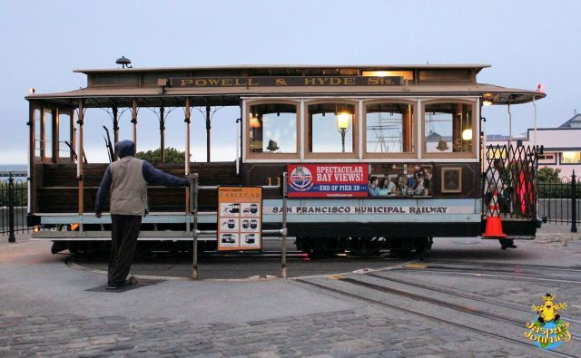 Cable Car No. 11 on the Hyde Street turntable