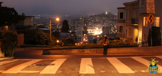 Passing Lombard Street