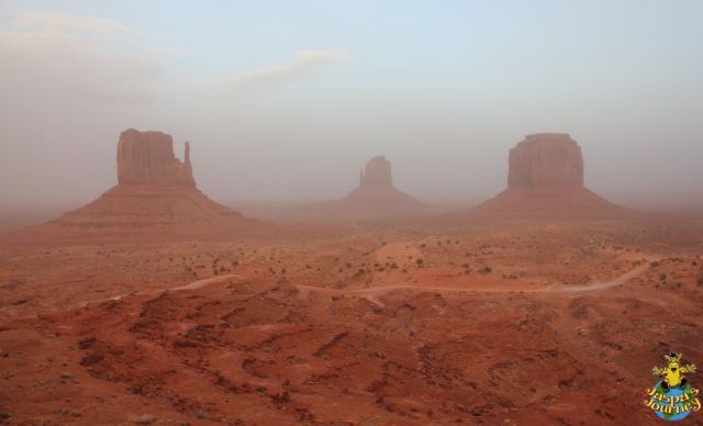 Monument Valley straddles the border with Arizona