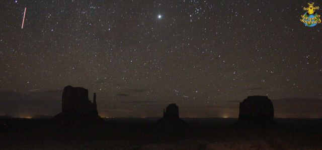 Monument Valley: even the night is tinged with orange out here in the desert