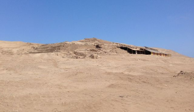 'Painted Temple' (Lima, Wari & Ychma cultures 200-1470 AD), partly covered for protection