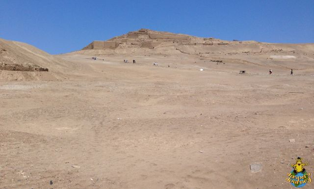 Looking up the (long, hot) hill towards the 'Temple of the Sun' (Inca period 1470-1533 AD