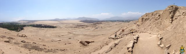 Panorama of the Pachacámac Archaeological Complex from the Temple of the Sun