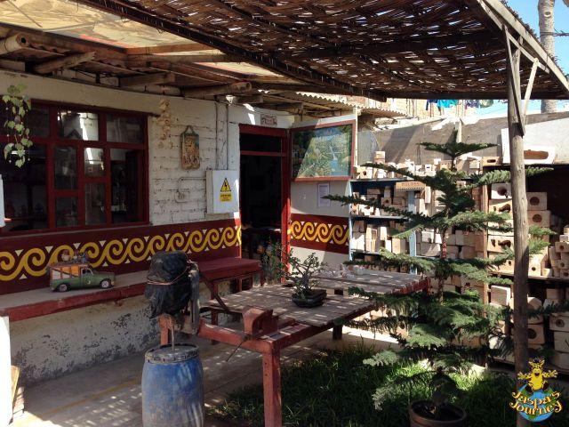 Courtyard of Ccori Maki ceramic workshop