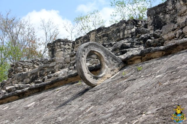 Detail of the stone ring, probably used for scoring